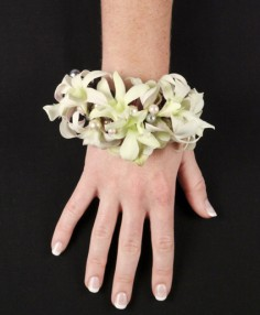 WHITE WRISTLET Prom Corsage in Hillsboro, OR | FLOWERS BY BURKHARDT'S