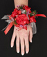 CRIMSON CARNATION Prom Corsage