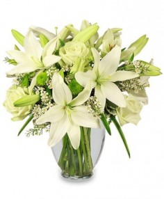 SIMPLICITY Arrangement in Farmingdale, NY | MERCER FLORIST & GREENHOUSE INC.