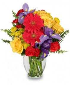 FLORA SPECTRA Bouquet in Little Falls, NJ | PJ'S TOWNE FLORIST INC