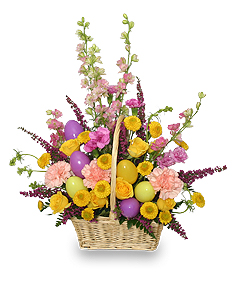 EASTER EGG HUNT Spring Flower Basket in Brooklyn, NY | MCATEER FLORIST WEDDINGS & EVENTS