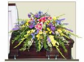 RESTFUL GARDEN CASKET SPRAY of Funeral Flowers