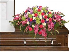 ETERNAL BEAUTY CASKET SPRAY  Funeral Flowers in Lima, OH | THE FLOWERLOFT