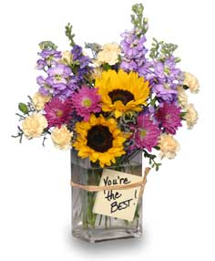 YOU'RE THE BEST!  Secretary's Day Arrangement
