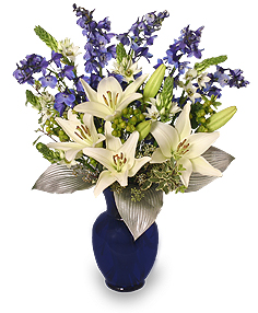 HAPPY HANUKKAH BOUQUET Holiday Flowers in Bath, NY | VAN SCOTER FLORISTS