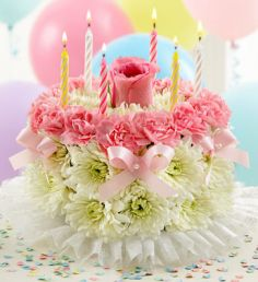 BIRTHDAY FLOWER CAKE in Clarksburg, MD | GENE'S FLORIST & GIFT BASKETS
