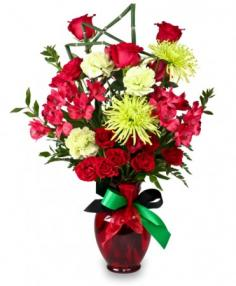 CONTEMPORARY CHEER Kwanzaa Flowers in Redlands, CA | REDLAND'S BOUQUET FLORISTS & MORE