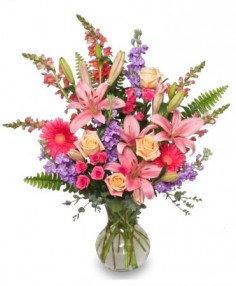EFFERVESCENT BLOOMS Bouquet in Miami, FL | THE VILLAGE FLORIST