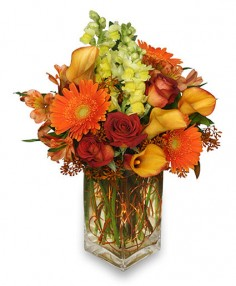 AUTUMN ADVENTURE Arrangement in West Hills, CA | RAMBLING ROSE FLORIST