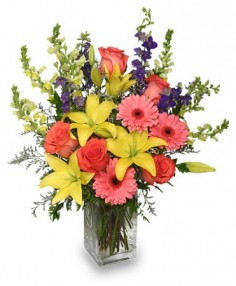 SPRING BLUSH BOUQUET Floral Arrangement Best Seller in Burlington, CT | THE HARWINTON FLORIST