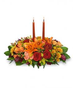 THANKSGIVING FEAST Centerpiece in Marysville, WA | CUPID'S FLORAL