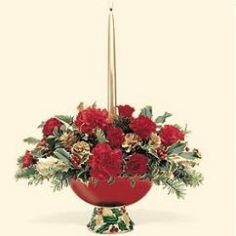 Holly Bowl Centerpiece in Sacramento, CA | A VANITY FAIR FLORIST
