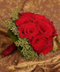 LUSH RED ROSES Wedding Bridal Bouquet