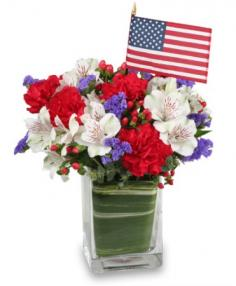 MADE IN THE USA Patriotic Arrangement in Bellingham, WA | M & M FLORAL & GIFTS