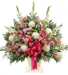 MULTICOLOR SYMPATHY BASKET in Clarksburg, MD | GENE'S FLORIST & GIFT BASKETS 