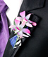 POSH PURPLE ORCHIDS Prom Boutonniere