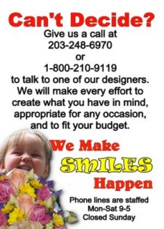 We Make Smiles Happen Designer's Choice in Hamden, CT | LUCIAN'S FLORIST & GREENHOUSE